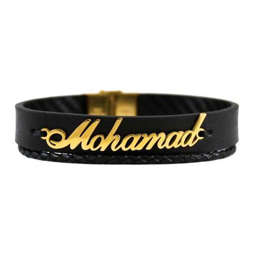 دستبند نقره طرح اسم محمد کد 01