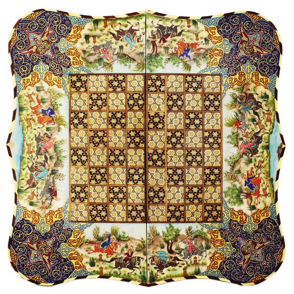 صفحه شطرنج خاتم کاری صنایع دستی اوِستا طرح دالبور کد 620134