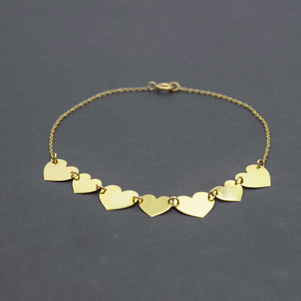 دستبند طلا 18 عیار زنانه کانیار گالری مدل B19