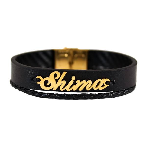 دستبند نقره طرح اسم شیما کد 01