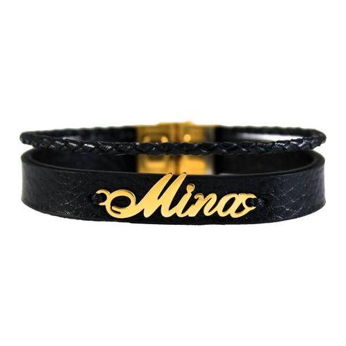 دستبند نقره طرح اسم مینا کد 01