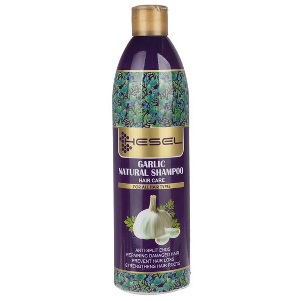 شامپو گیاهی هسل مدل Garlic حجم 400 میلی لیتر