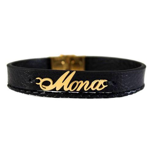 دستبند نقره طرح اسم مونا کد 01