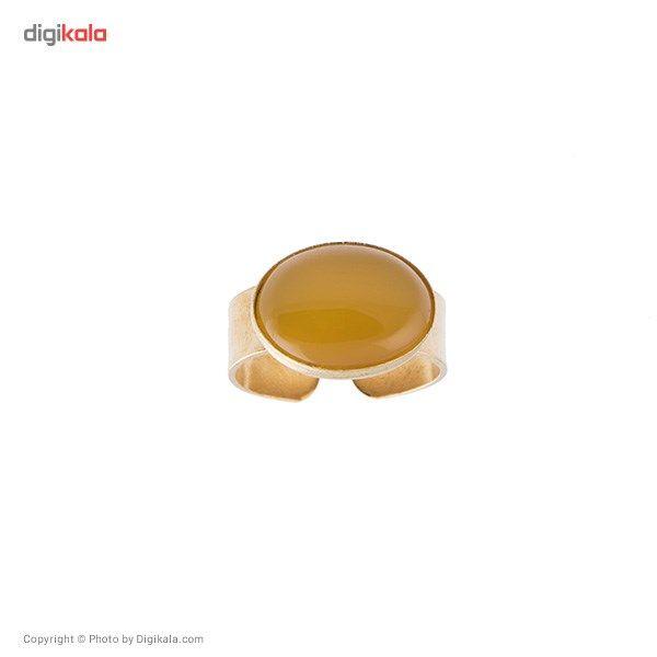 انگشتر ناردونه قاب دار برنج زرد صفوی کوچک -  - 2