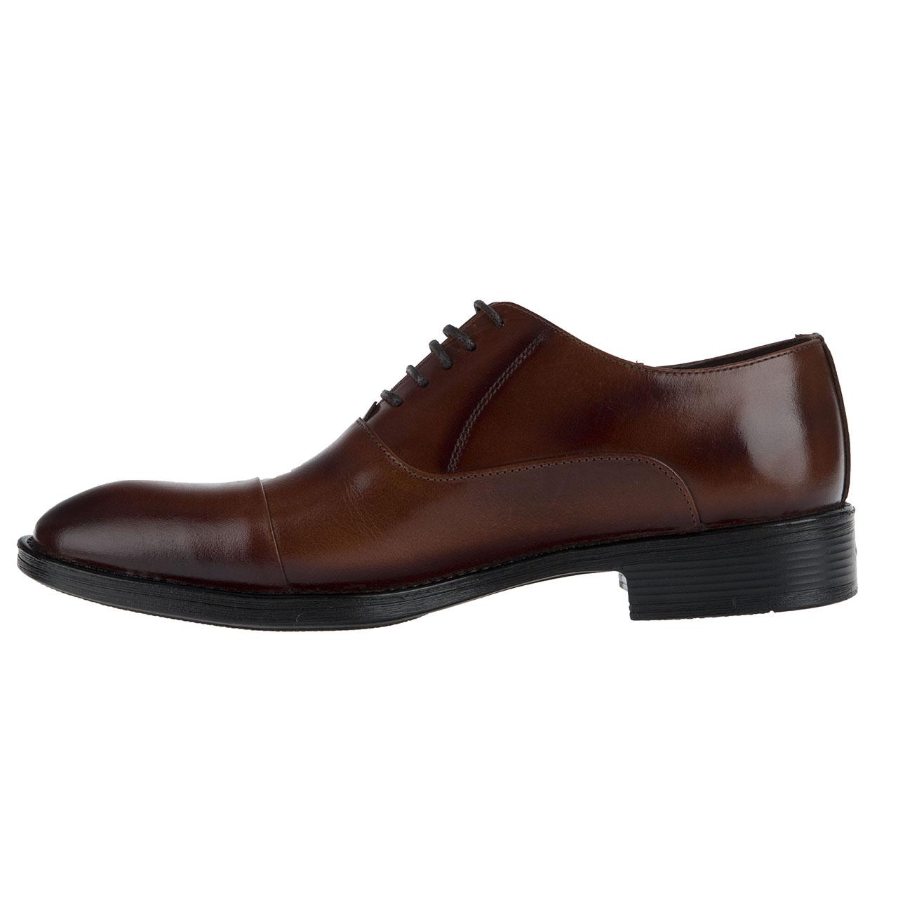 کفش مردانه چرم مکس مدل LORD رنگ قهوه ای