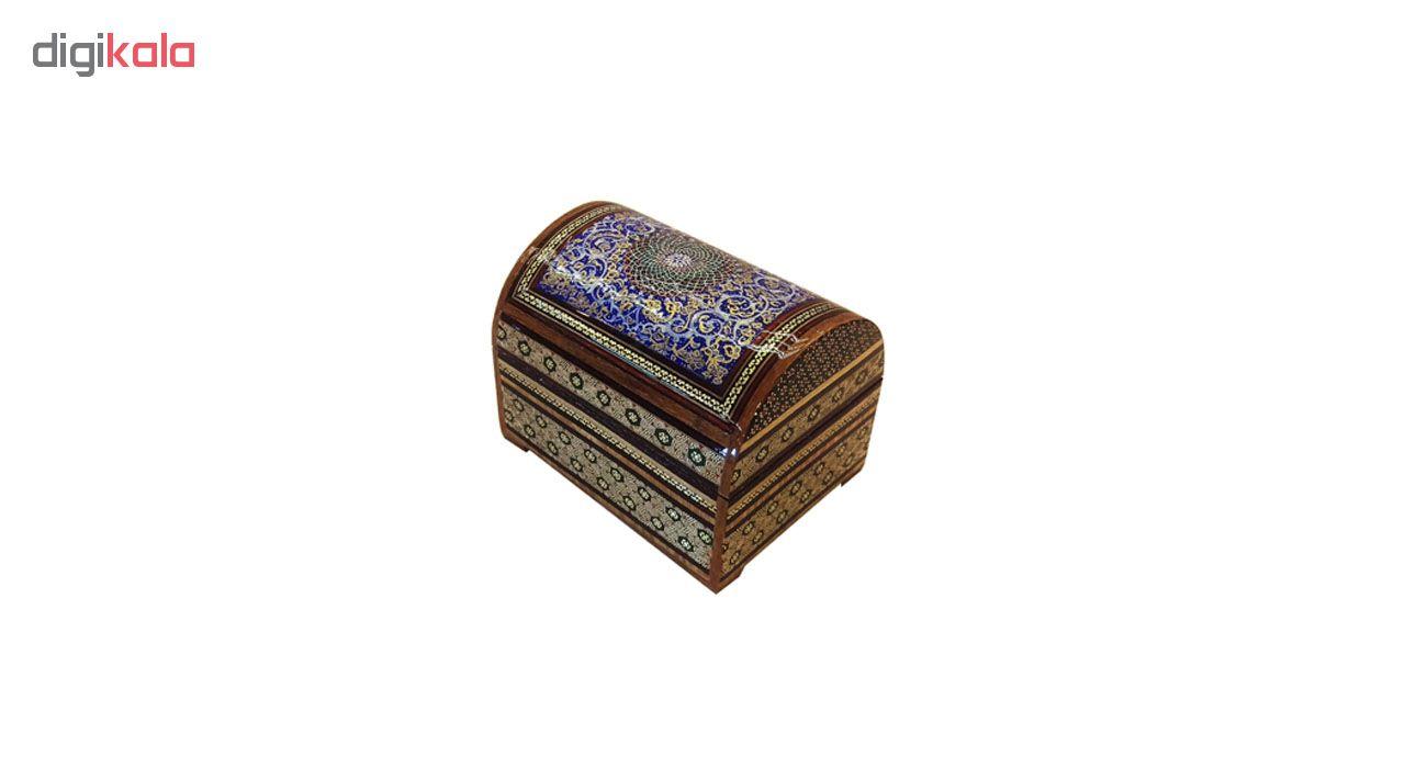 خرید                      صندوقچه خاتم لوح هنر طرح گل کد 1049