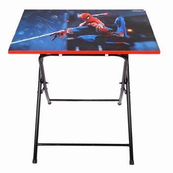 میز تحریر پایه بلند طرح مرد عنکبوتی (وایت بردی،تاشو،تنظیم شونده ارتفاع)