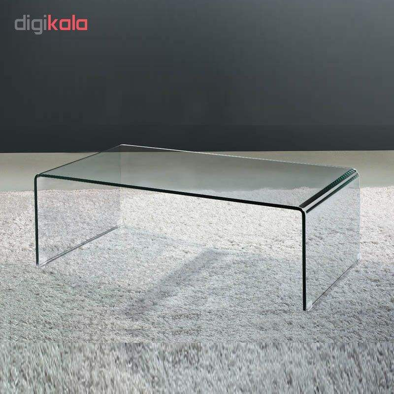 میز جلو مبلی شیشه خم اطلس 12 میل طول 110 سانتی متر main 1 5