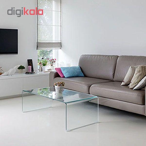 میز جلو مبلی شیشه خم اطلس 12 میل طول 110 سانتی متر main 1 1