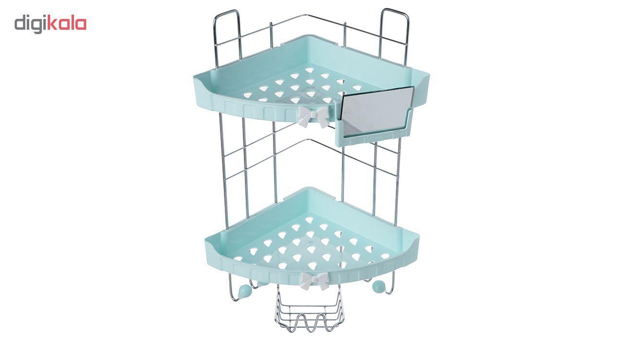 قفسه حمام بازن مدل Triangle with Mirror main 1 3