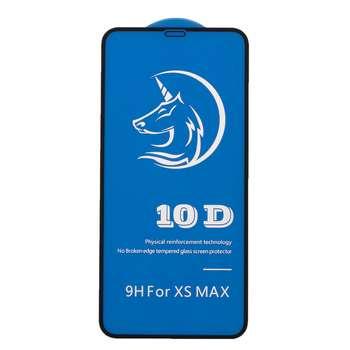 محافظ صفحه نمایش شیشه ای مدل 10D مناسب برای گوشی موبایل آیفون XS MAX