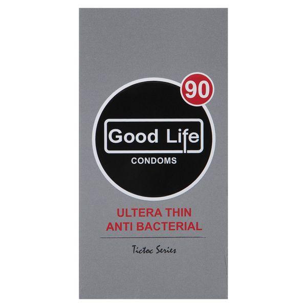 کاندوم گودلایف مدل Ultra Thin Anti Bacterial بسته 12 عددی