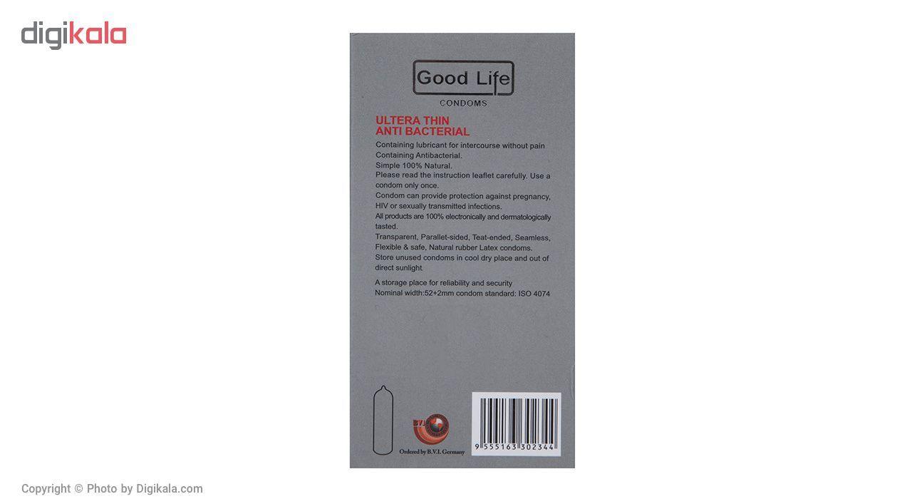 کاندوم گودلایف مدل Ultra Thin Anti Bacterial بسته 12 عددی main 1 2