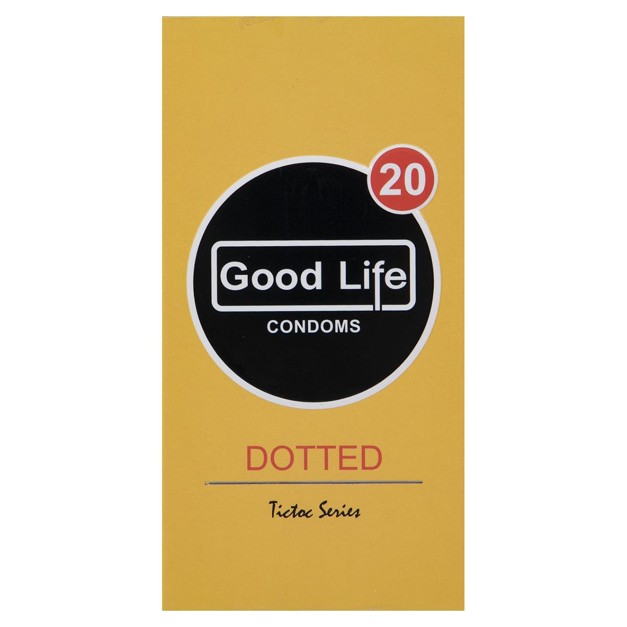 قیمت کاندوم گودلایف مدل Dotted بسته 12 عددی