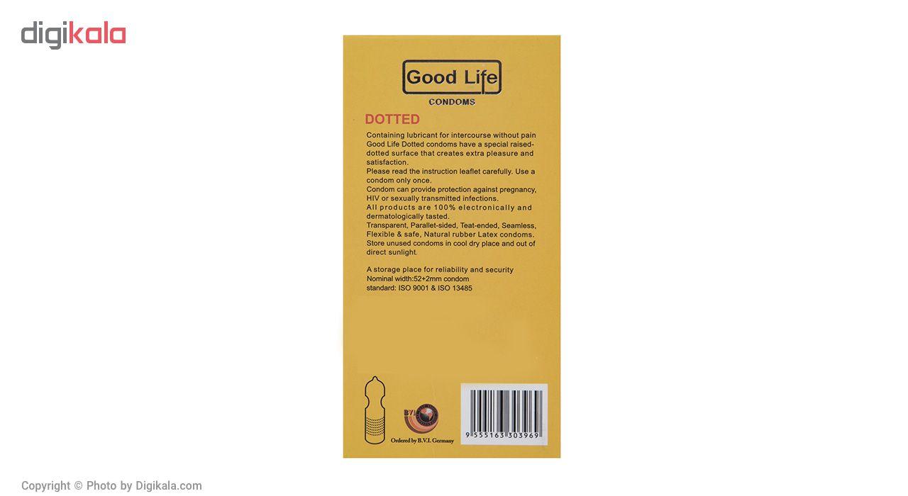 کاندوم گودلایف مدل Dotted بسته 12 عددی main 1 2