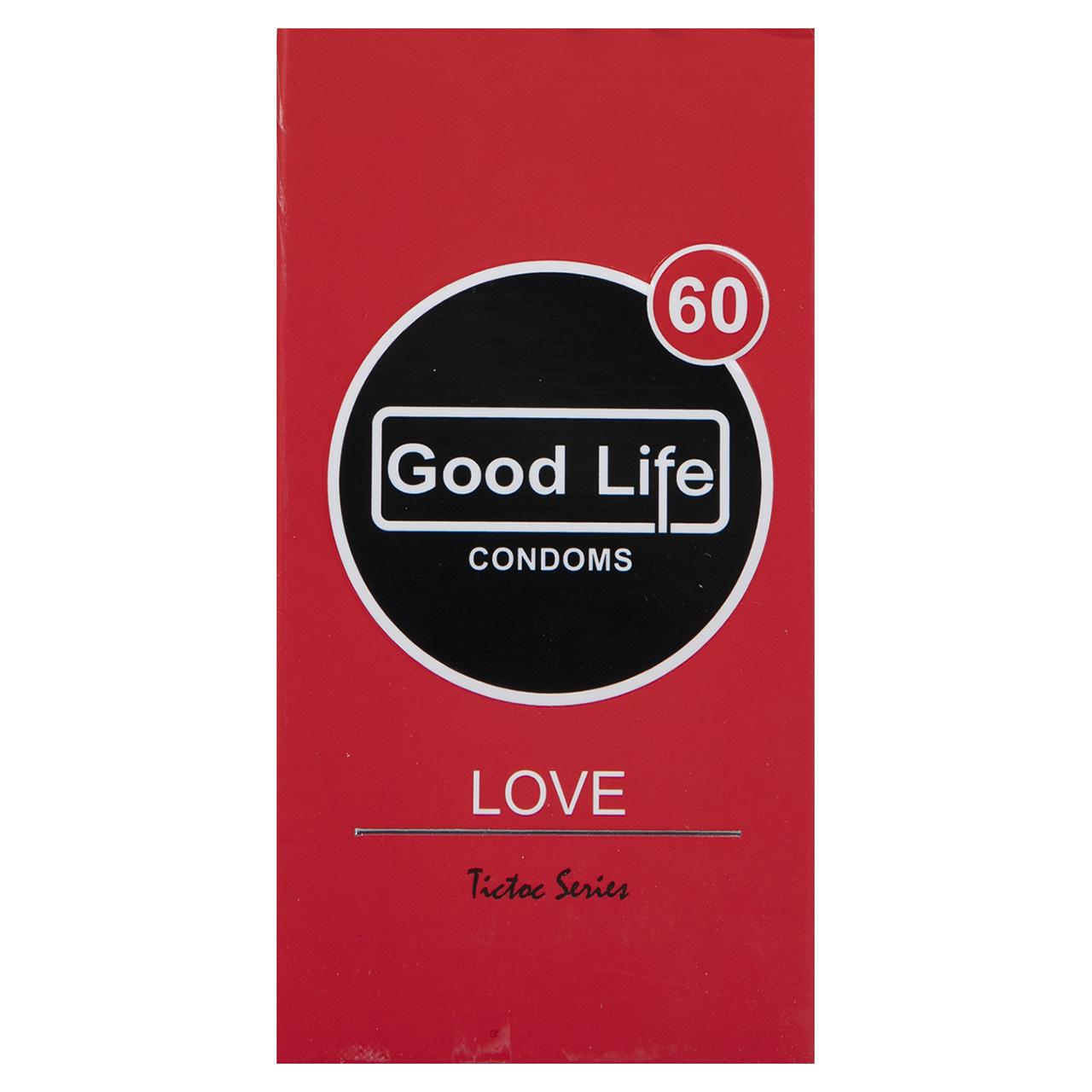 عکس کاندوم گودلایف مدل Love بسته 12 عددی