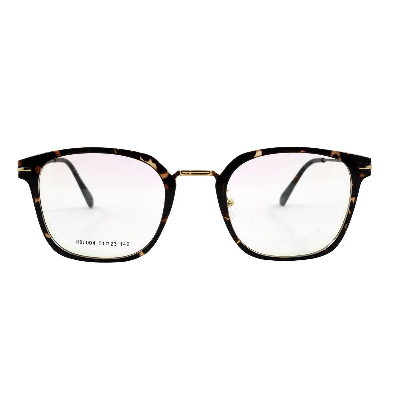 قیمت فریم عینک طبی مدل Tr90 Golden Bridge Leopard