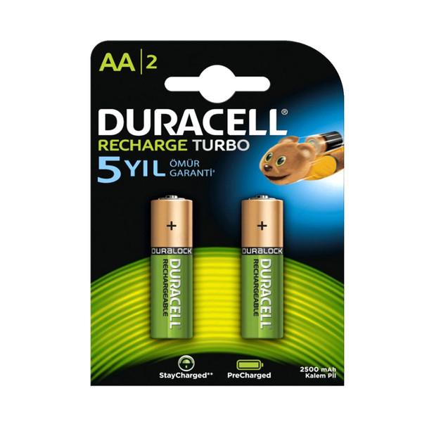 باتری قلمی قابل شارژ دوراسل مدل HR6 بسته 2 عددی