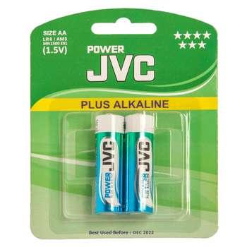 باتری قلمی جی وی سی مدل Plus Alkalaine بسته 2 عددی