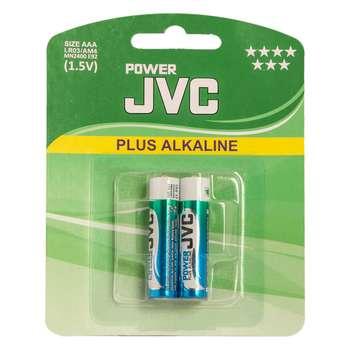 باتری نیم قلمی جی وی سی مدل Plus Alkalaine بسته 2 عددی