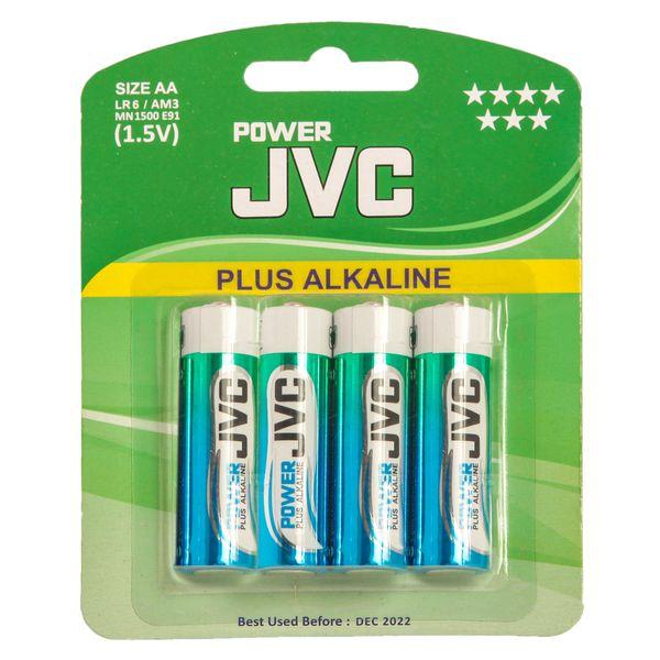 باتری قلمی جی وی سی مدل Plus Alkaline بسته 4 عددی