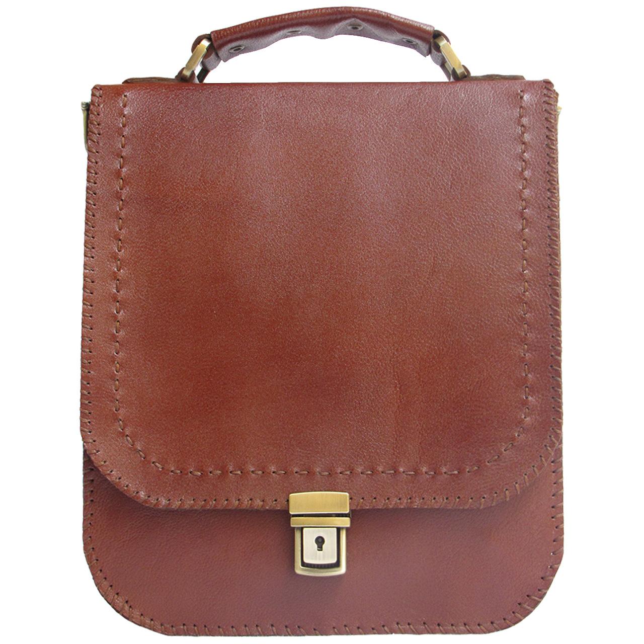 کیف اداری چرم طبیعی دستدوز مدل یونیک کد 005