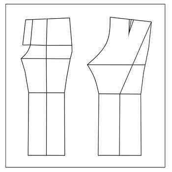 الگو خیاطی شلوار زنانه متد مولر سایز 46