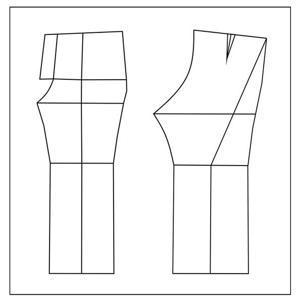 الگو خیاطی شلوار زنانه متد مولر سایز 48
