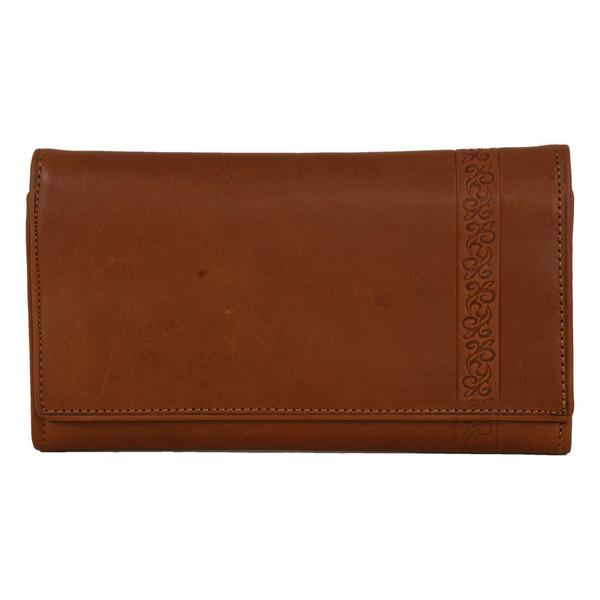 کیف پول زنانه کهن چرم مدل LW5-1