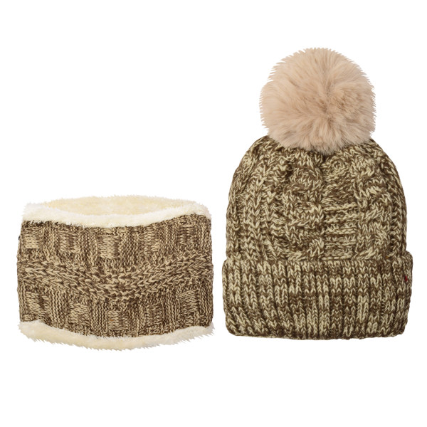 ست کلاه و شال گردن بافتنی بچگانه کد P0144-5
