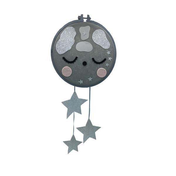 آویز اتاق کودک طرح صورتک ماه کد22