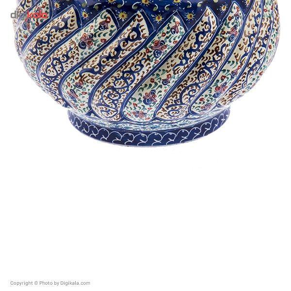 قندان مسی میناکاری شده اثر شیرازی طرح 3 سایز کوچک