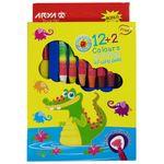 پاستل روغنی 2+12 رنگ آریا کد 2027 Mr. Croc