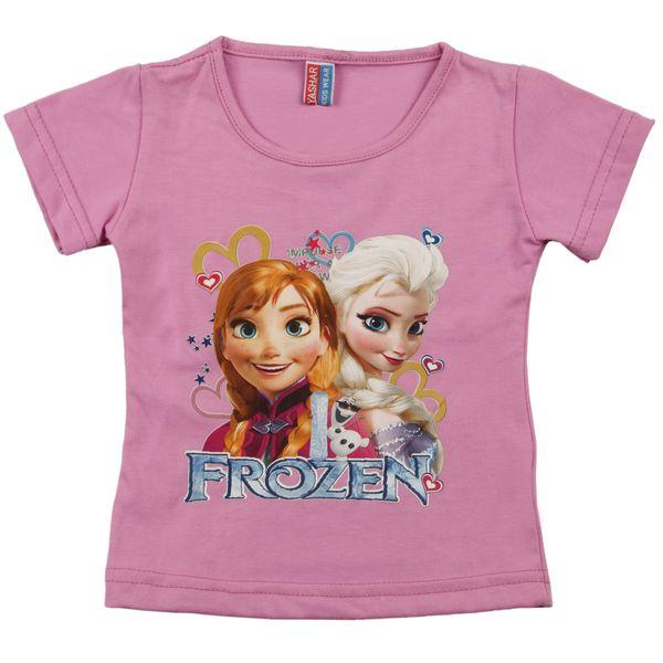 تی شرت دخترانه یاشار مدل Frozen کد DLGHT-T178