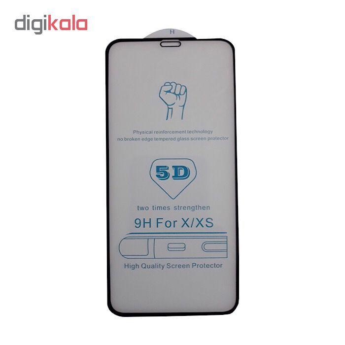 محافظ صفحه نمایش شیشه ای فول کاور مدل  5D HQ مناسب برای گوشی اپل آیفون X/Xs main 1 3