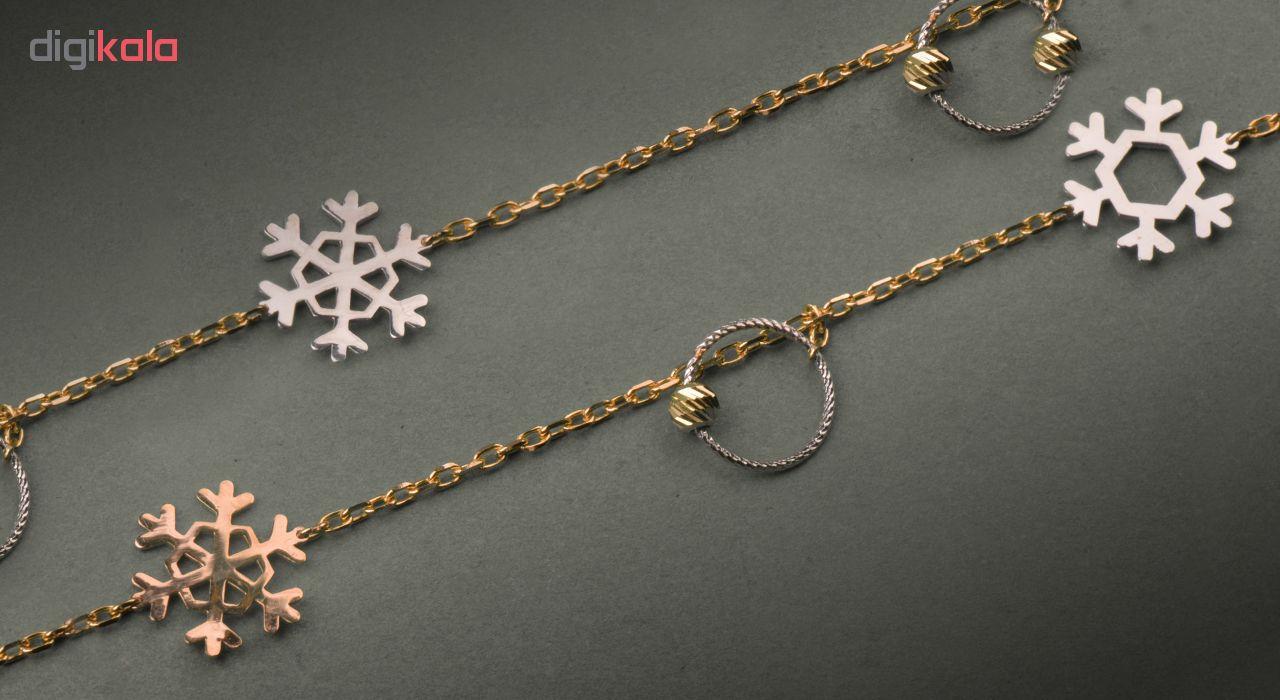 گردنبند طلا 18 عیار فرنود کد LN15