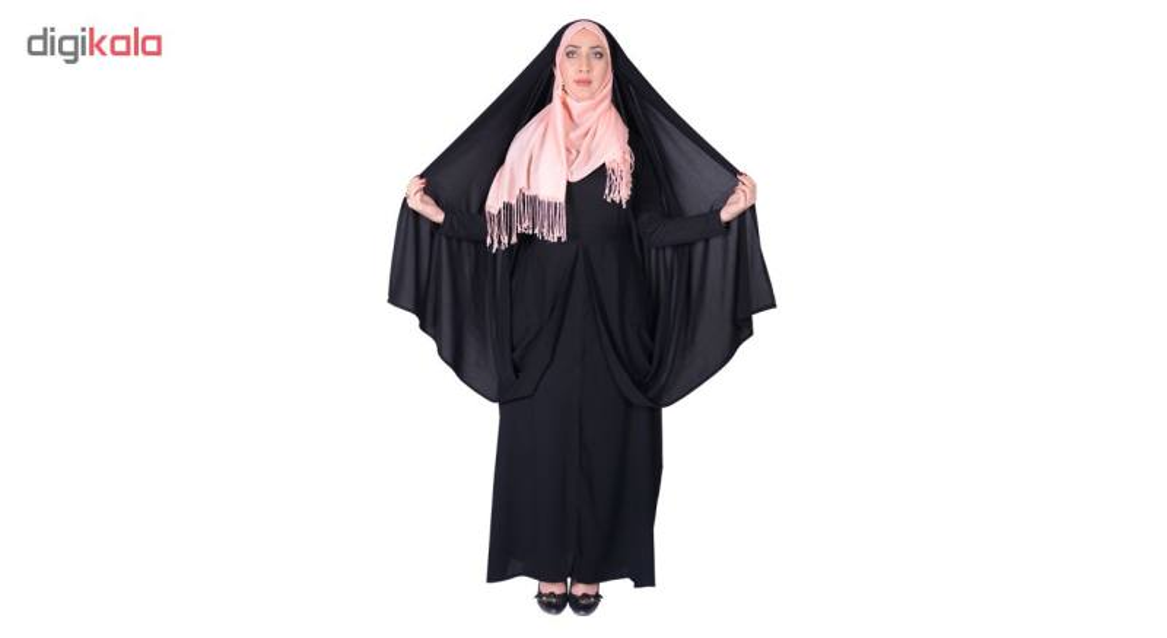 چادر کمری قجری کرپ کریستال شهر حجاب مدل 8012