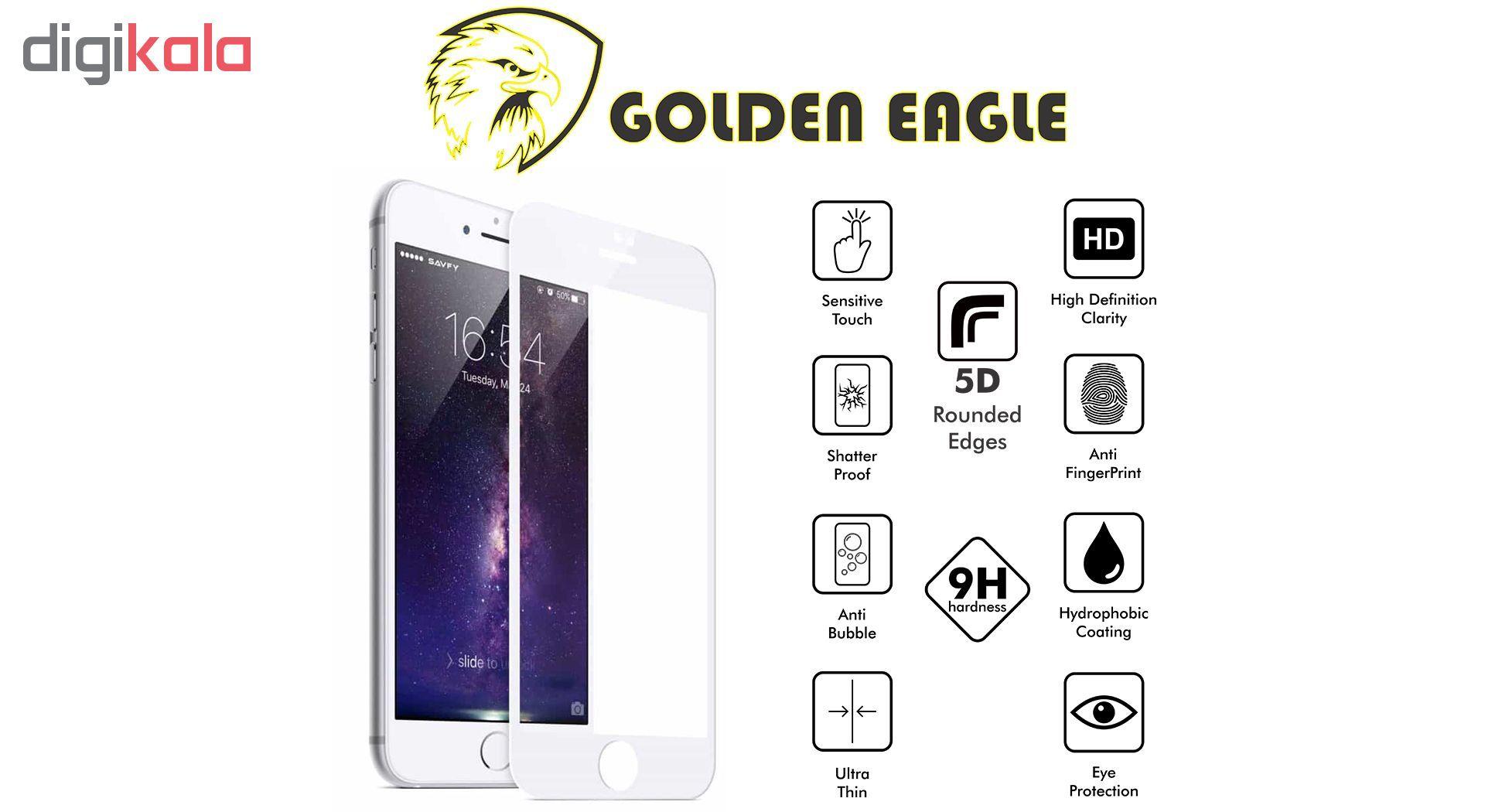 محافظ صفحه نمایش گلدن ایگل مدل 5D Expert Shield مناسب برای گوشی اپل آیفون  7/8 main 1 3