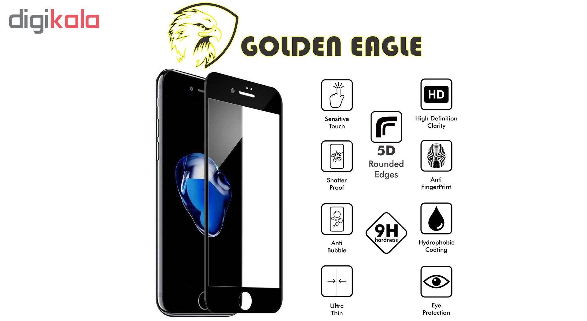 محافظ صفحه نمایش گلدن ایگل مدل 5D Expert Shield مناسب برای گوشی اپل آیفون  7/8 main 1 4