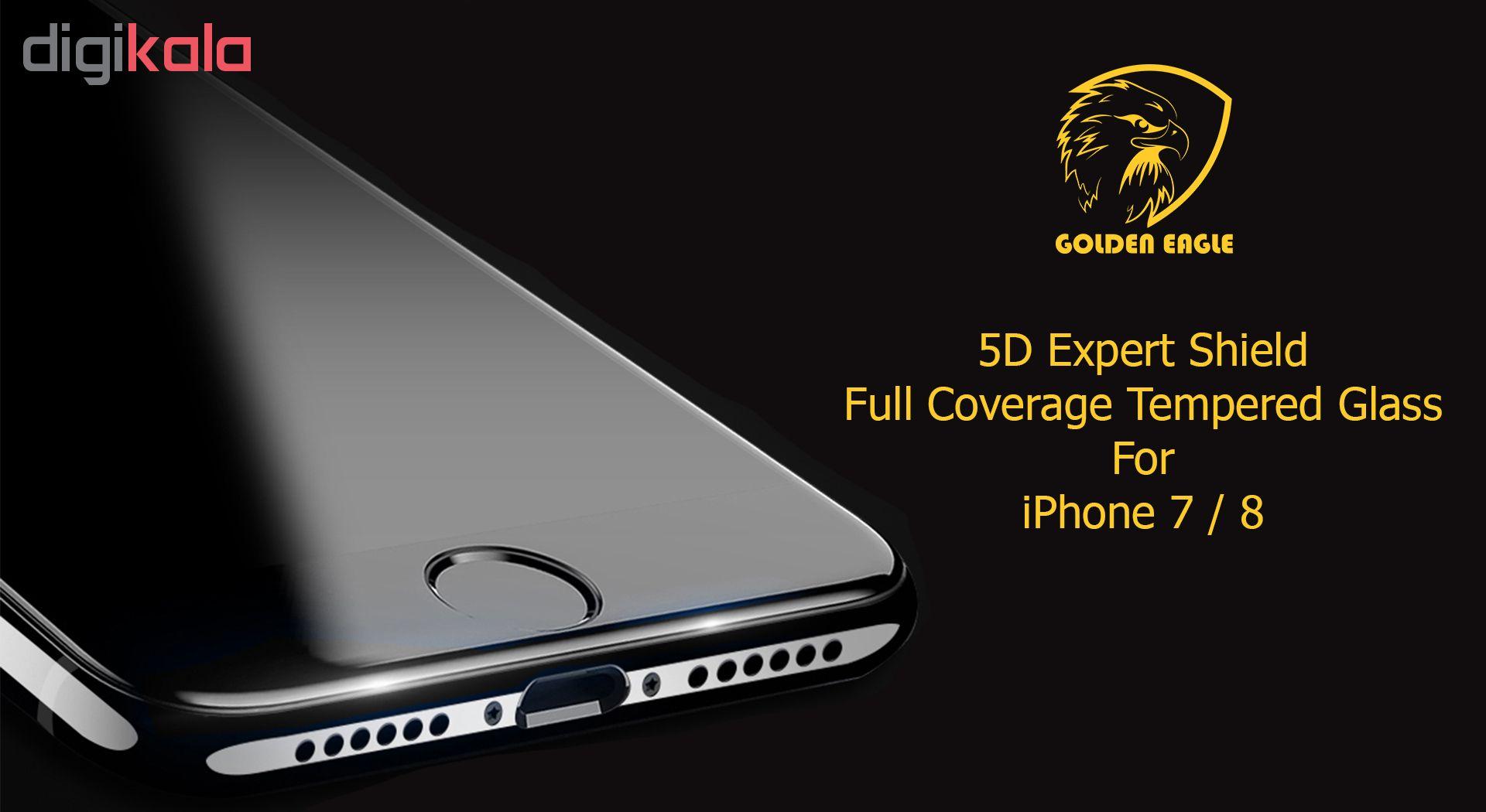 محافظ صفحه نمایش گلدن ایگل مدل 5D Expert Shield مناسب برای گوشی اپل آیفون  7/8 main 1 2