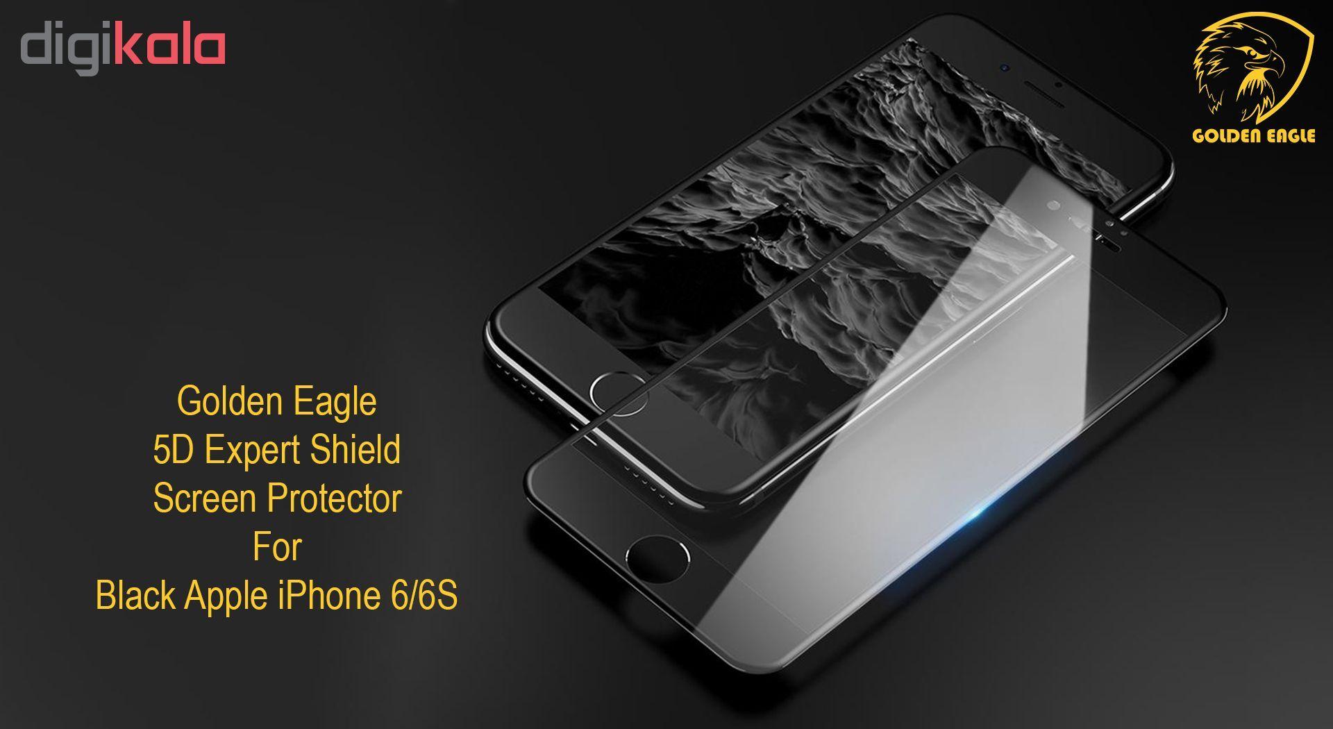 محافظ صفحه نمایش گلدن ایگل مدل 5D Expert Shield مناسب برای گوشی اپل آیفون  6/6S main 1 2