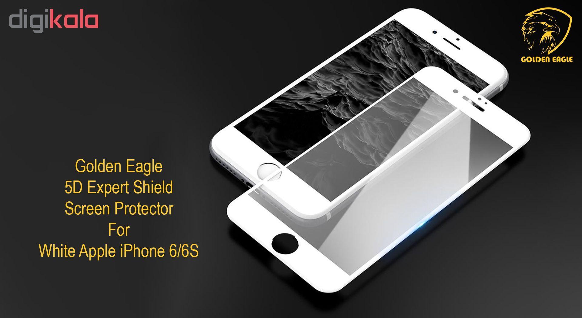 محافظ صفحه نمایش گلدن ایگل مدل 5D Expert Shield مناسب برای گوشی اپل آیفون  6/6S main 1 4