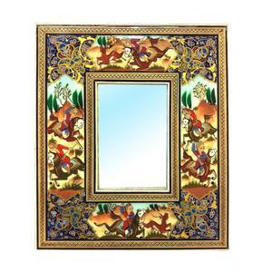 قاب آیینه خاتم لوح هنر طرح چوگان کد 1072