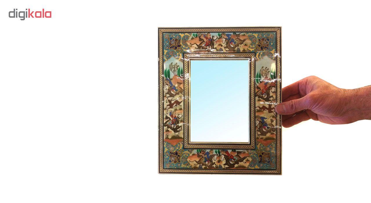 خرید                      قاب آیینه خاتم لوح هنر طرح چوگان کد 1076