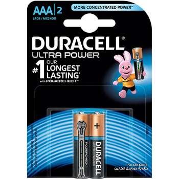 باتری نیم قلمی دوراسل مدل Ultra Power بسته 2 عددی