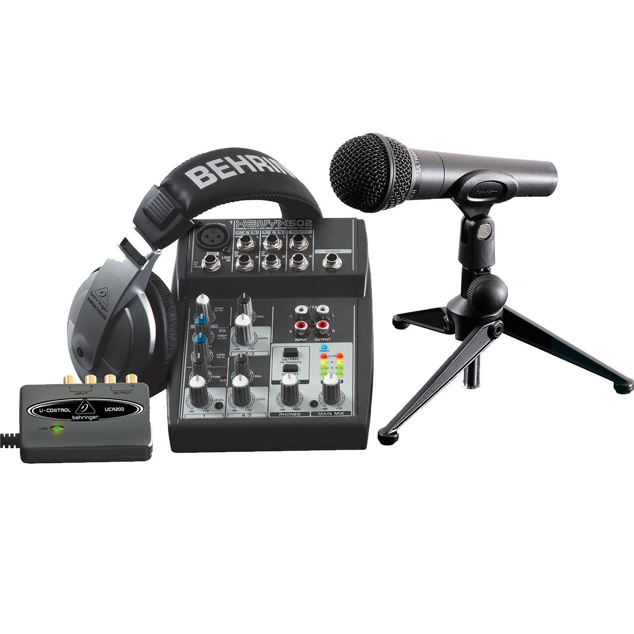 پکیج کامل ضبط استودیو بهرینگر مدل PODCASTUDIO