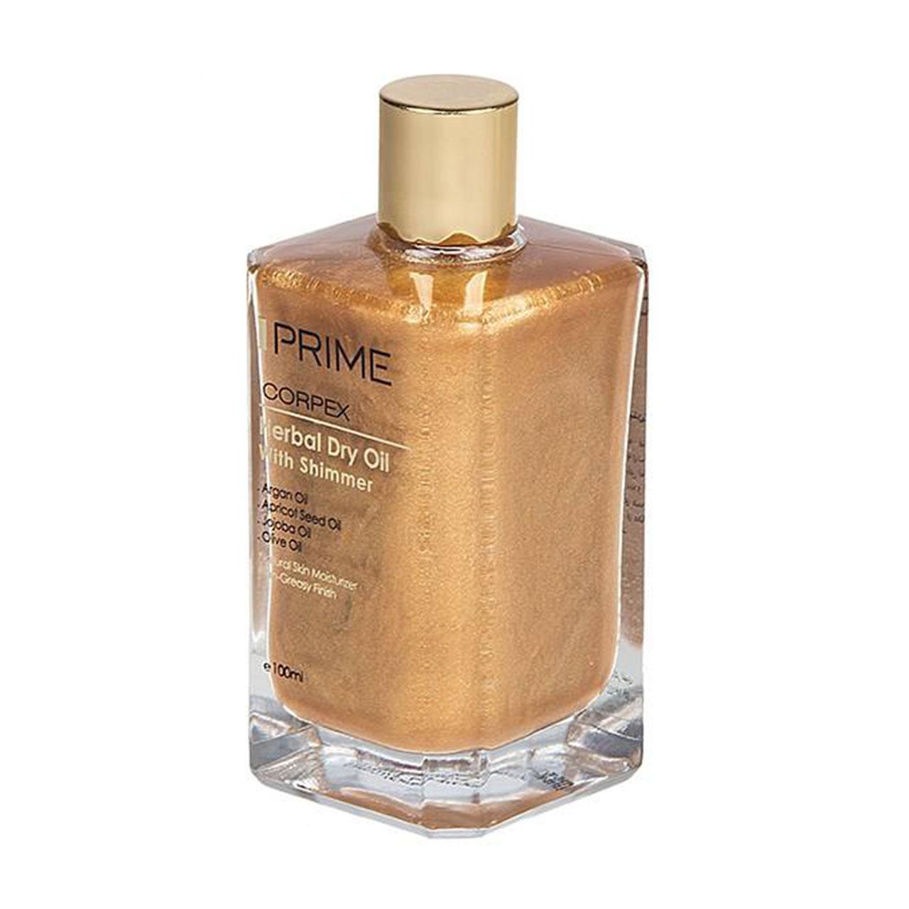 قیمت روغن پوست و مو پریم سری Corpex مدل Herbal Dry Oil حجم 100 میلی لیتر