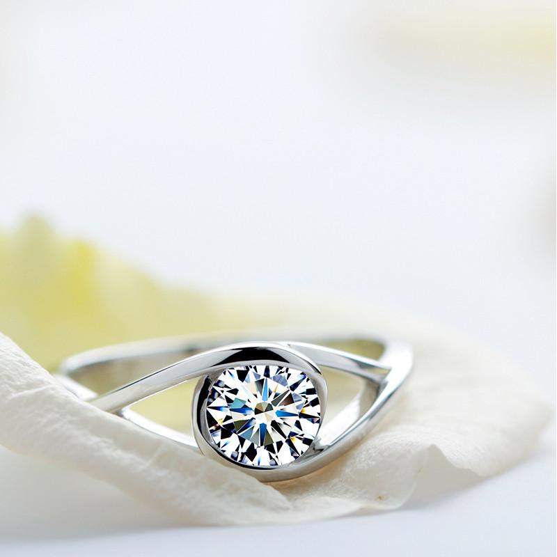 انگشتر نقره زنانه شهر جواهر مدل SJ-R004