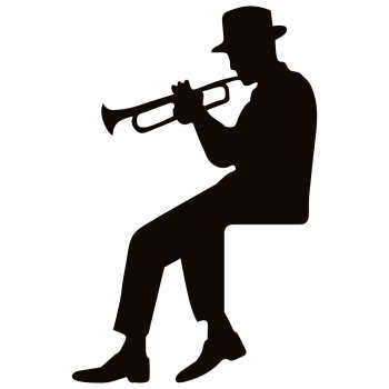 استیکر کلید پریز طرح مرد موسیقی