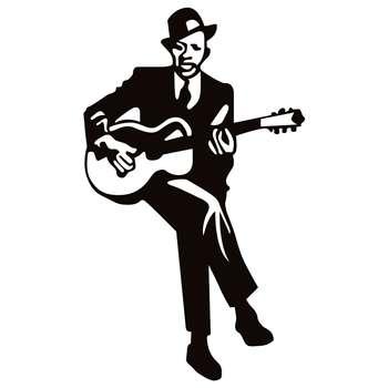استیکر کلید پریز طرح مرد گیتار به دست